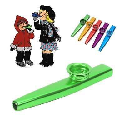 Metal Kazoo+ 5 Diaphragm Harmonica Mouth Flute Kids Party Toy Musical Instrument