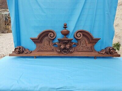 Antique French: Pediments, Solid Oak,Decor renaissance 19th,Architectural 40.02""