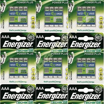 40 x ENERGIZER AAA 700 mAH POWER PLUS Rechargeable Batteries ACCU 700