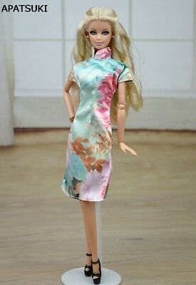 """Chinese Traditional Dress Qipao Party Dress For 11.5"""" Doll Clothes Cheongsam 1/6"""