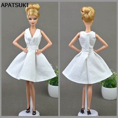"Pure White Doll Dress For 11.5"" Doll Party Dresses Clothes 1/6 Doll Accessories"