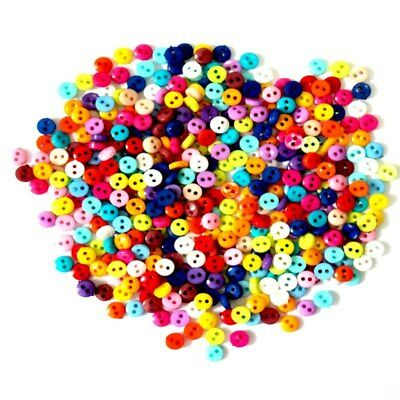 600Pcs/ 6mm Round Resin Mini Buttons Sewing Scrapbooking DIY Apparel Accessories