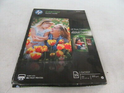 New Oem Hp Q5451A Everyday Glossy Photo Paper (210 X 297 Mm)(25 Sheets)