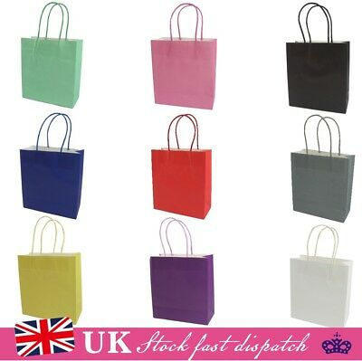 Pack of 10 Luxury Party Bags - Kraft Paper Gift Bag Twisted Handles