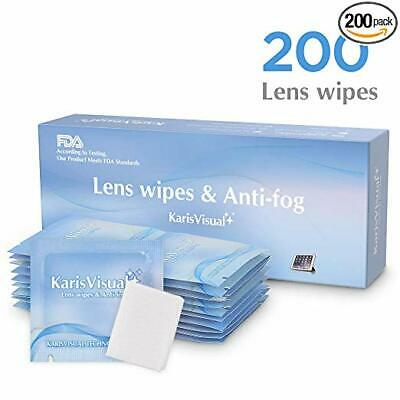 200 Ct Lens Cleaning Wipes Cloth Kit For Camera Eye Glasses TV Phone LCD Screen