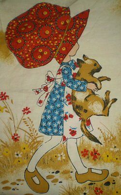 Vintage EXTRA LARGE HOLLY HOBBIE Fabric (33cm x 48cm) - Trademarked