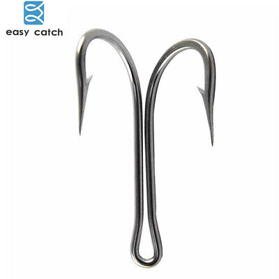 50pcs Strong Double Hook Saltwater High Carbon Steel Fish/_Hook Frog B8V5 8# Y4Y9