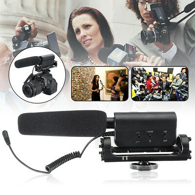 Photography Mic Shotgun Interview Video Microphone For Nikon Canon Camera DSLR
