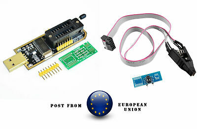 CH341A 24 25 Series EEPROM Flash BIOS USB Programmer + SOIC8 Clip On-Board