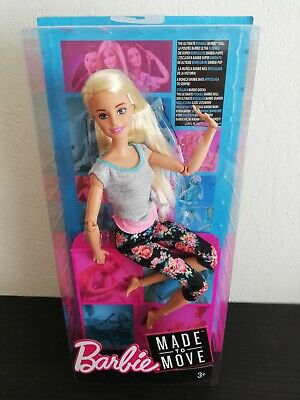 Barbie Made To Move Blonde Doll FTG81 Ultra Flexible Articulated Body