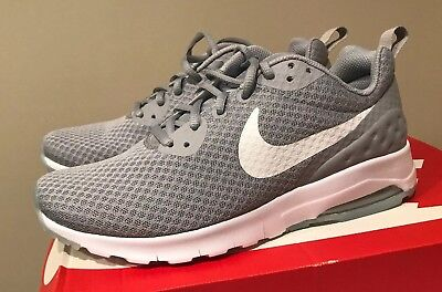 huge discount 7ca29 92473 Nike Air Max Motion LW Mens 833260-011 Wolf Grey White Running Shoes Size 8