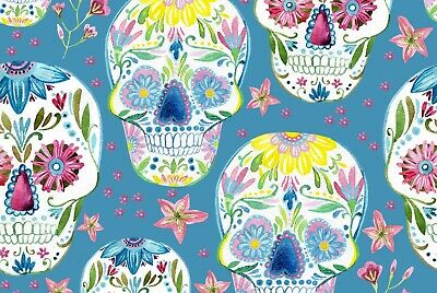 A1 Flower Skull Day Halloween Wall Poster Art Print 60 x 90cm 180gsm Gift #13088