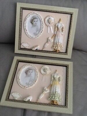 pair of decorative victorian style photo frames