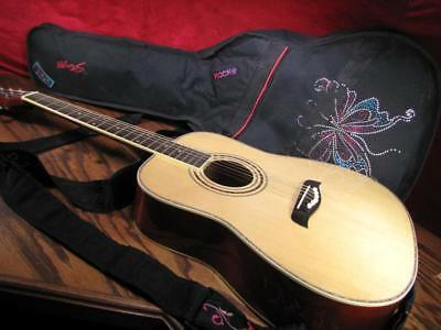 Oscar Schmidt 3/4 size Acoustic Guitar Left Hand with Stagg padded carry bag