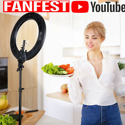 CRAPHY Ring Light 14'' 9'' SMD LED Two-color 3200k-5600k Kit para Youtube Cámara