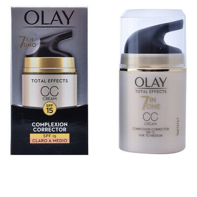 Cosmética Olay mujer TOTAL EFFECTS CC cream SPF15 #claro a medio 50 ml