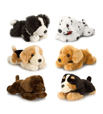 Keel 25Cm  Soft Toy Laying Plush Puppy Dogs Many Breeds To Choose From