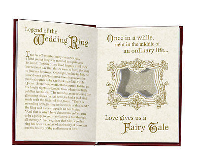 Beauty And The Beast Ring Box - Fairytale Book Design - Disney Wedding - Rose