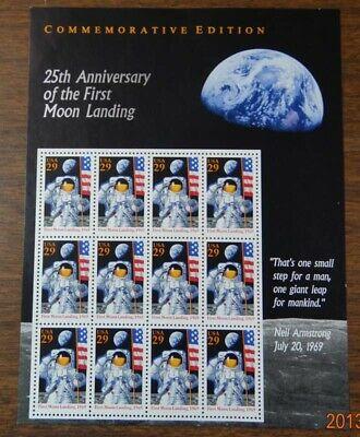 Scott #2841 25th Anniversary of Moon Landing Mint Sheet ( Face Value - $3.48 )