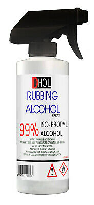 99% Pure IPA Isopropanol Isopropyl Alcohol With Trigger  Spray 500ml