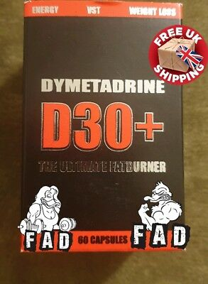 Dymetadrine D30+ (T5) Ultimate Fat Burner/Energy/Weight Loss FREE P&P