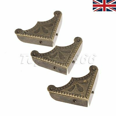UK Antique Box Corner Protector Guard Jewelry Chest Hardware Decorative 12pcs
