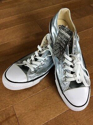 aa225620994b Authentic Converse Chuck Taylor All Star Metallic Low Top Sneakers Mens 9  NWT