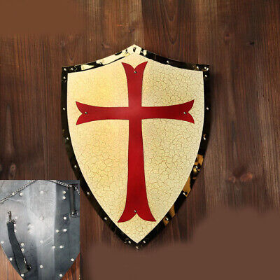 D31 Europe Retro Medieval Shield Antique Knight Armour Wall Home Decor Full Size