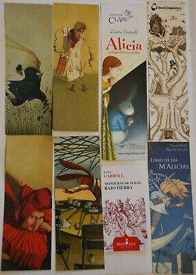 8 marque pages ALICE AU PAYS DES MERVEILLES - ALICIA IN WONDERLAND bookmarks