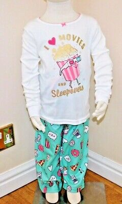 CARTERS GIRLS 2 Piece MOVIES AND SLEEPOVERS QUALITY Snug Fit Cotton PJs 3/4/5/6