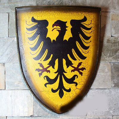 D10 Europe Retro Medieval Shield Antique Knight Armour Wall Home Decor Full Size
