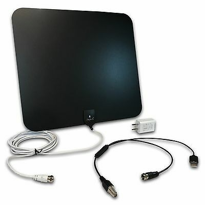 Styles II Super Thin Indoor HD TV Antenna - 50 Mile Range + Detachable Amplifier
