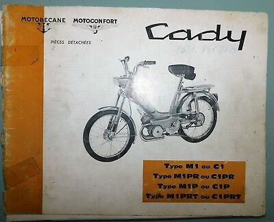 ANCIEN CATALOGUE PIECES DETACHEES 1969 CADY MOTOBECANE MOTOCONFORT M1 ou C1
