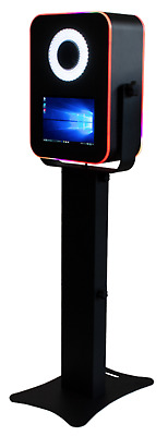 """Portable Photo Booth - Shell Only """"t12 Led""""  - Black W/ Led Ring Light Flash"""