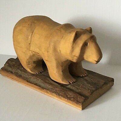 Vintage Folk Art Grizzly Bear