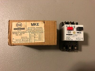 New In Box Ge Manual Motor Starter Iec 292-1 Cei 337 Vde 0660