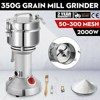 350G Corn Wheat Grinder Stainless Steel Grain Grinder Home Commercial New