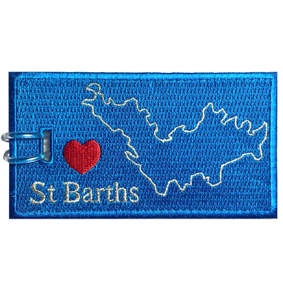 ST BARTHS Embroidered Luggage Tag (NEVER BREAKS!)