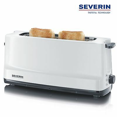 Severin Automatic Long Slot Toaster 2 Slice With Bun Warmer 800W White AT2232