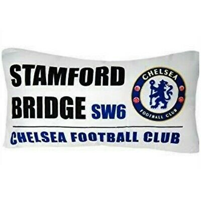 100% Licenced Chelsea Fc Street Sign Filled Cushion Pillowcases (50 X 30 Cm)