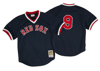 c79881f1 Ted Williams 1990 Boston Red Sox Authentic Mesh BP Jersey by Mitchell & Ness