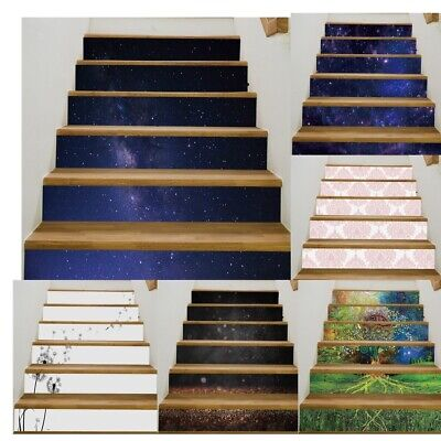 6X//13X Brick Staircase Stair Riser Stickers Wall Decals Home Decor Self-adhesive