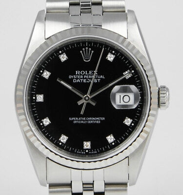 Rolex Oyster Perpetual DateJust 16234 - Factory Rolex Diamond-Set Date (1990)