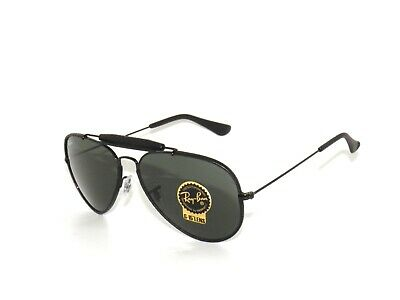 8ad77606af RAY BAN SUNGLASSES 3422Q 3422 9040 Leather Black Green Rayban ...