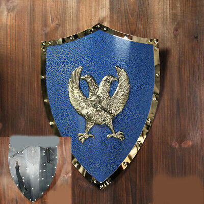 D32 Europe Retro Medieval Shield Antique Knight Armour Wall Home Decor Full Size