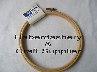 BIRCH EMBROIDERY HOOP ROUND WOODEN EDGE WITH SCREW CLOSURE 15cm*END OF LINE*