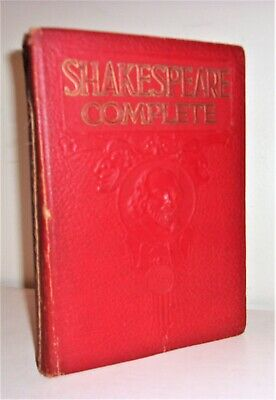 THE COMPLETE WORKS OF WILLIAM SHAKESPEARE, Leather-like, Illustrated   Book