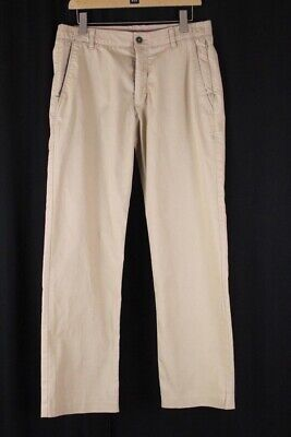 mens khaki UNDER ARMOUR UA performance chino golf pants trousers stretch 34 x 32
