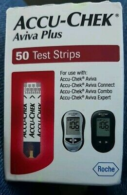 Accu-Chek Aviva Plus 50ct test strips, Listing for 1 box EXP 3/31/2019 AND LATER