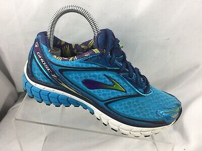 fabc7f36d1b Brooks Women s Ghost 7 Running Shoes 1201611B451 Hawaiian Blue Eclipse Lime  Sz 6